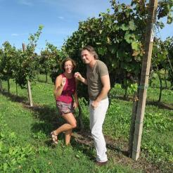 Fun at the vineyard met wijnleverancier Daan